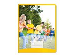 Sportschrift Commercial 4x7 geel, 25st.