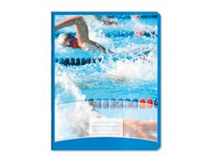 Sportschrift Commercial 4x7 blauw, 25st.