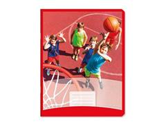 Sportschrift Commercial 4x7 rood, 25st.